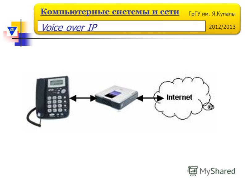 ГрГУ им. Я.Купалы 2012/2013 Компьютерные системы и сети Voice over IP