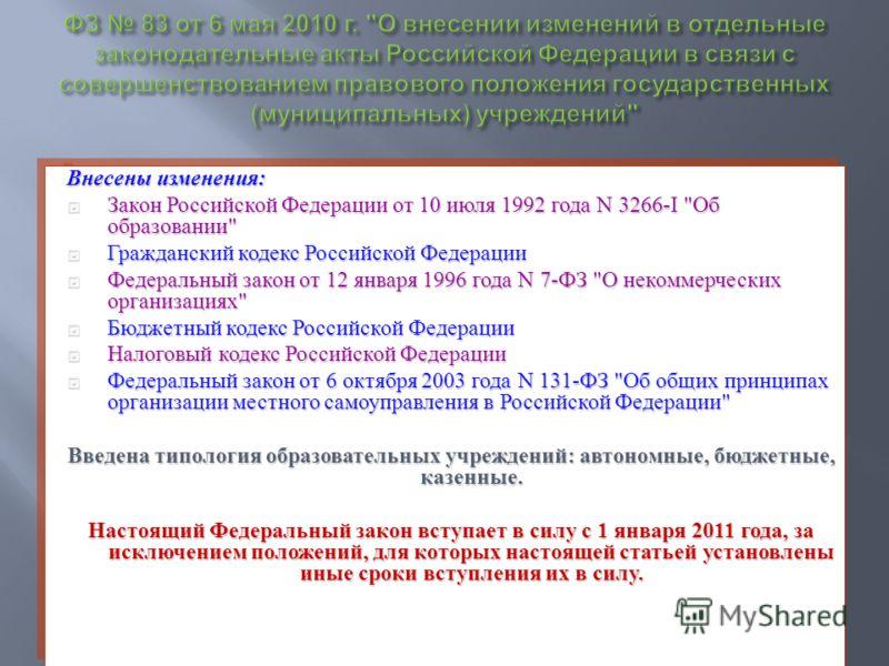 Внесены изменения : Закон Российской Федерации от 10 июля 1992 года N 3266-I