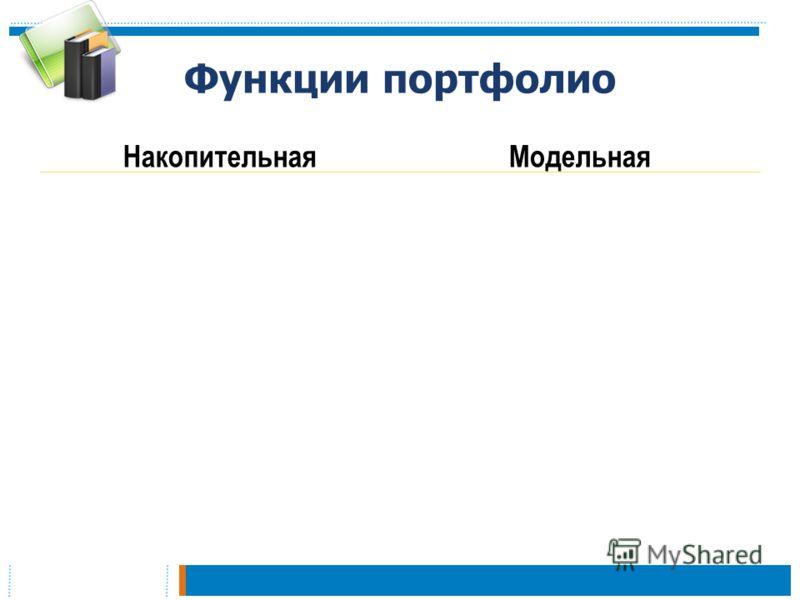 Функции портфолио НакопительнаяМодельная