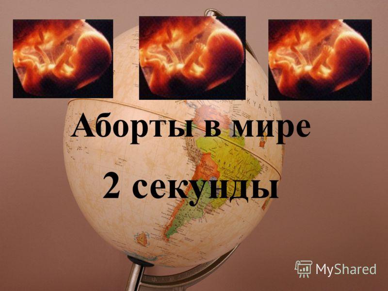 Аборты в мире 2 секунды