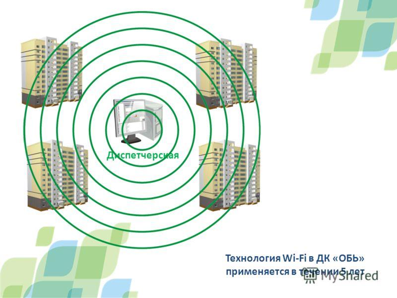 Диспетчерская Технология Wi-Fi в ДК «ОБЬ» применяется в течении 5 лет