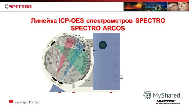 www.spectro.com Линейка ICP-OES спектрометров SPECTRO SPECTRO ARCOS