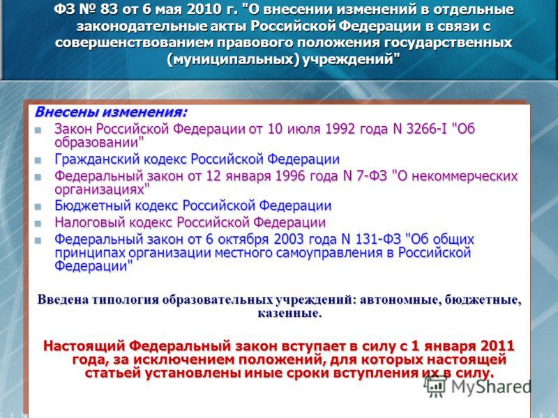Внесены изменения: Закон Российской Федерации от 10 июля 1992 года N 3266-I