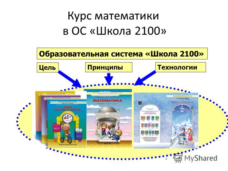 2 Курс математики в ОС «Школа 2100» Образовательная система «Школа 2100» Цель ПринципыТехнологии