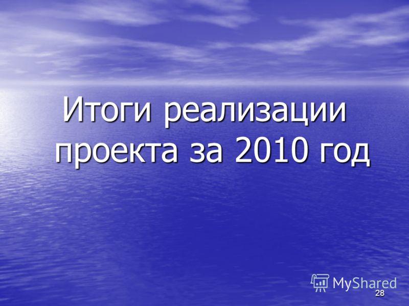 28 Итоги реализации проекта за 2010 год