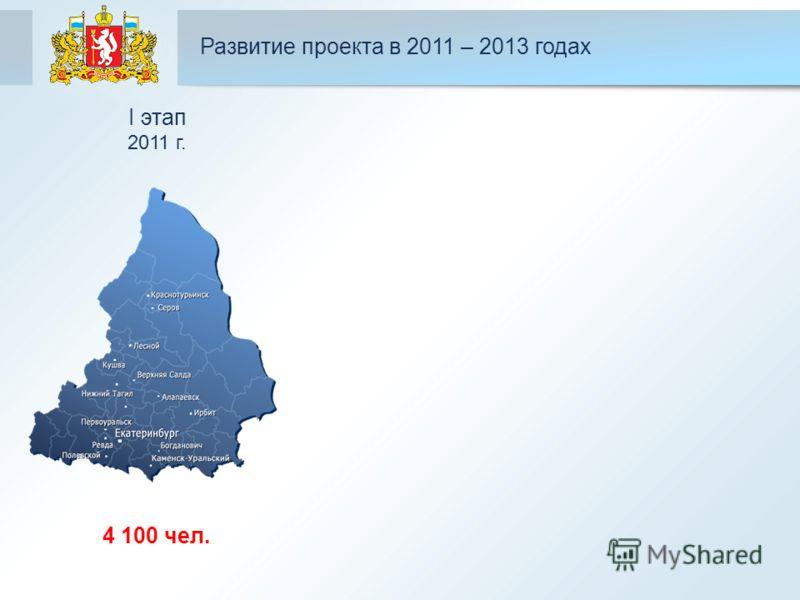 Развитие проекта в 2011 – 2013 годах 4 100 чел. I этап 2011 г.