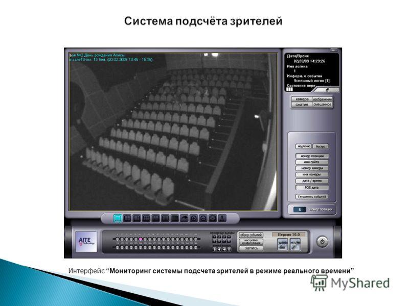 Интерфейс Мониторинг системы подсчета зрителей в режиме реального времени