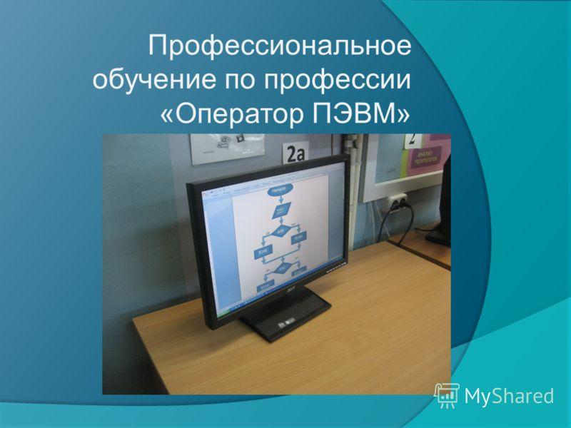Профессиональное обучение по профессии «Оператор ПЭВМ»