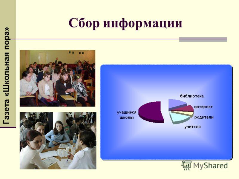 Сбор информации Газета «Школьная пора»