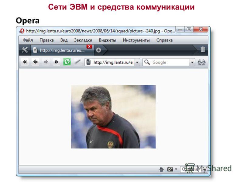 Сети ЭВМ и средства коммуникации Opera