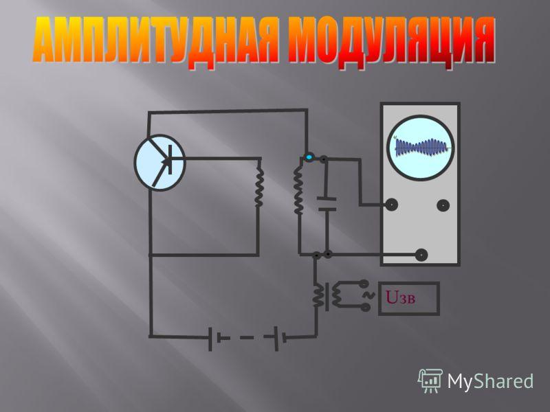 Модуляция-изменение высокочастотных колебаний, вырабатываемых генератором, с помощью электрических колебаний звуковой частоты. Изменение со звуковой частотой амплитуды высокочастотных колебаний называют амплитудной модуляцией
