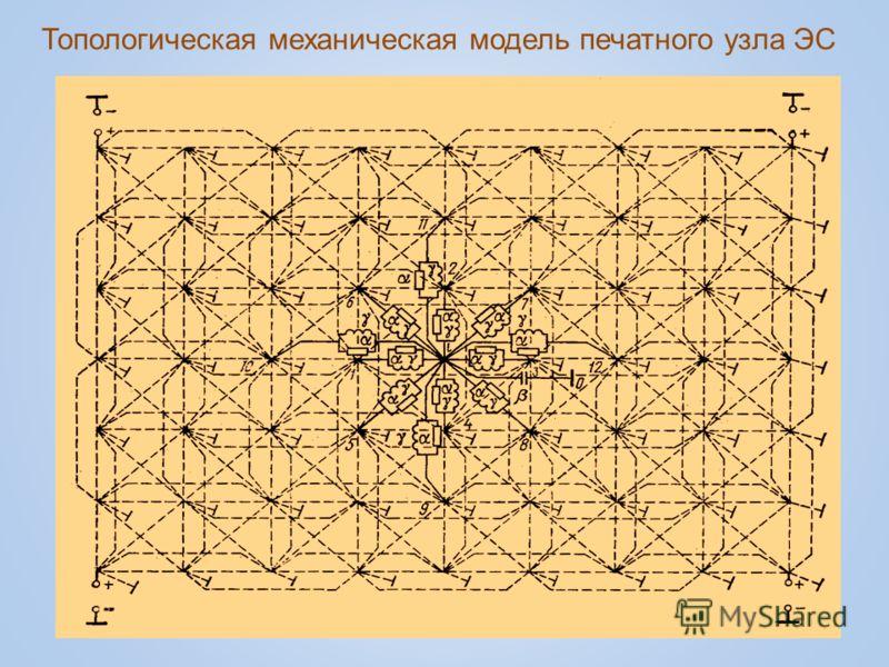 Топологическая механическая модель печатного узла ЭС