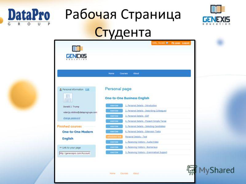 ООО Data Pro Grupa GenExis Система Дистанционного Обучения