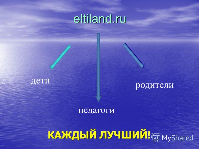 eltiland.ru дети педагоги родители КАЖДЫЙ ЛУЧШИЙ!