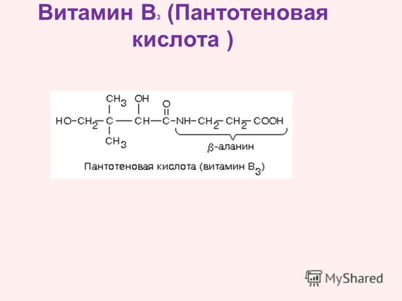 Витамин B 3 (Пантотеновая кислота )