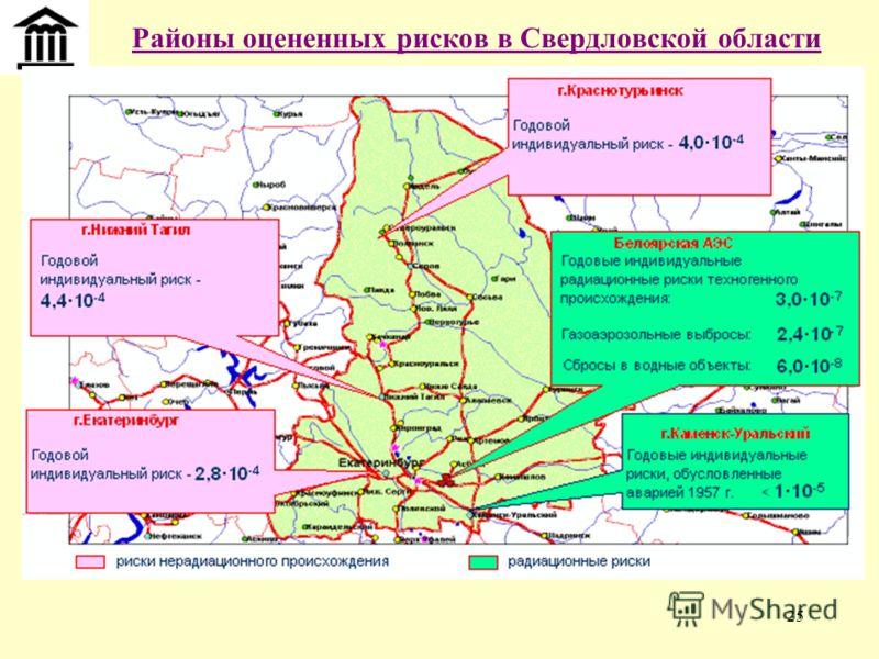 25 Районы оцененных рисков в Свердловской области