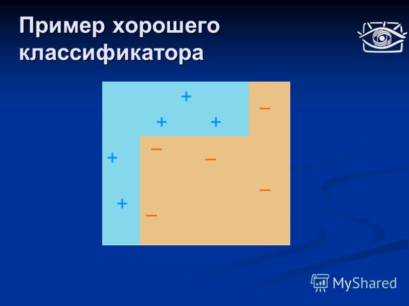 Пример хорошего классификатора + ++ + +