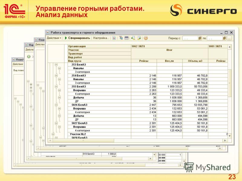 23 Управление горными работами. Анализ данных