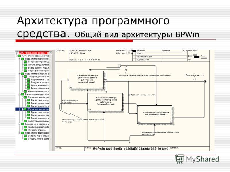 Архитектура программного средства. Общий вид архитектуры BPWin