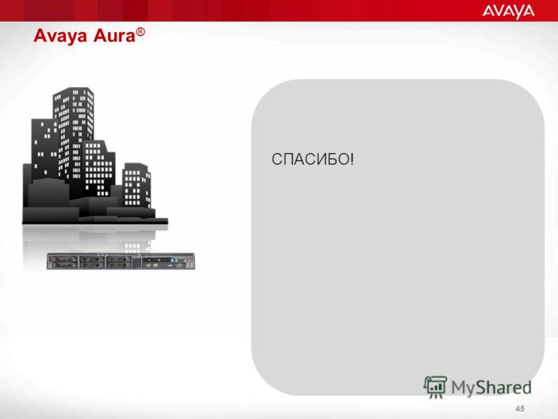 Avaya Aura ® 45 СПАСИБО!