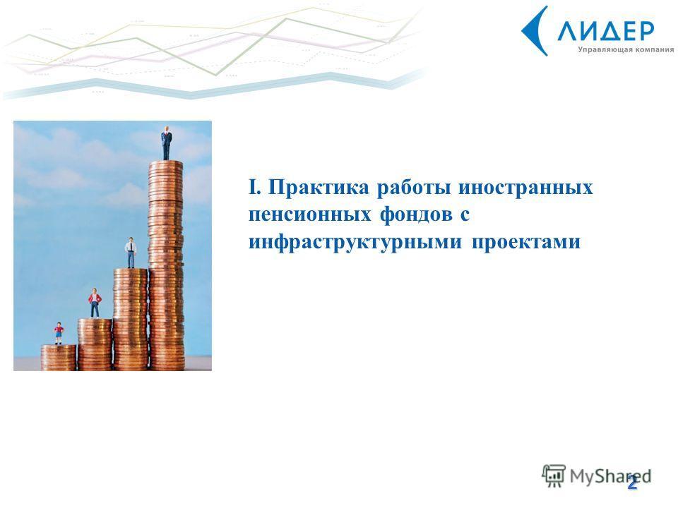 2 I. Практика работы иностранных пенсионных фондов с инфраструктурными проектами
