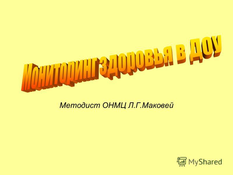 Методист ОНМЦ Л.Г.Маковей