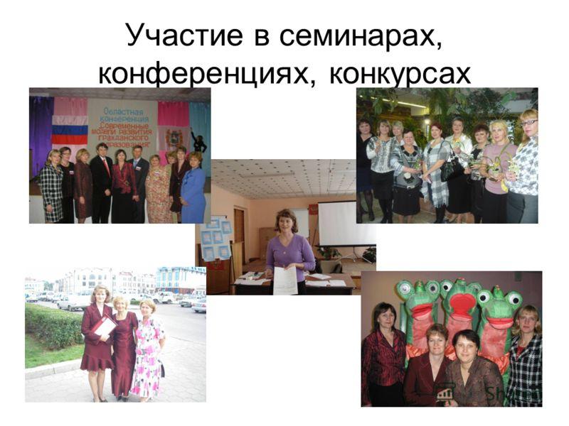 Участие в семинарах, конференциях, конкурсах