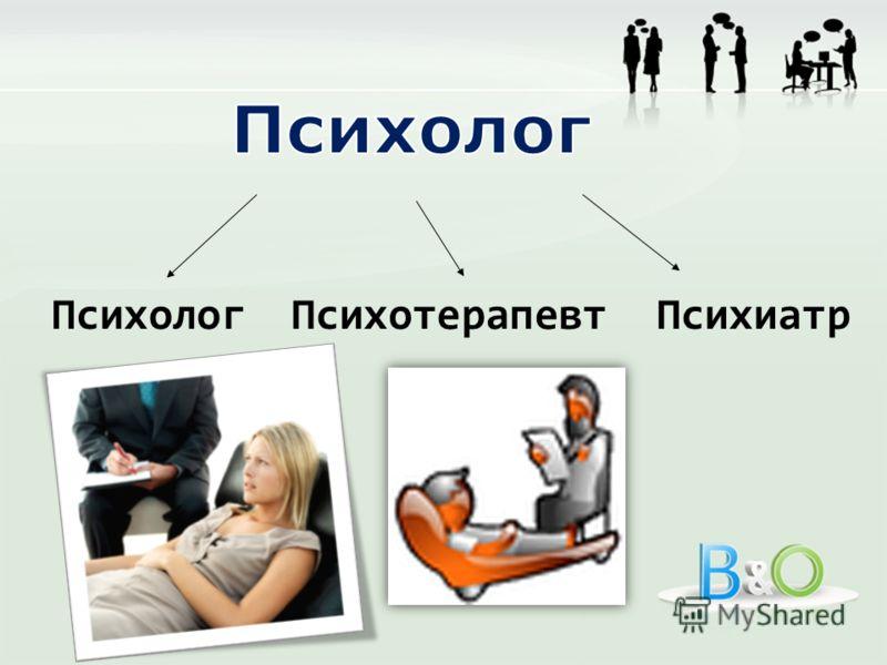 ПсихологПсихотерапевтПсихиатр