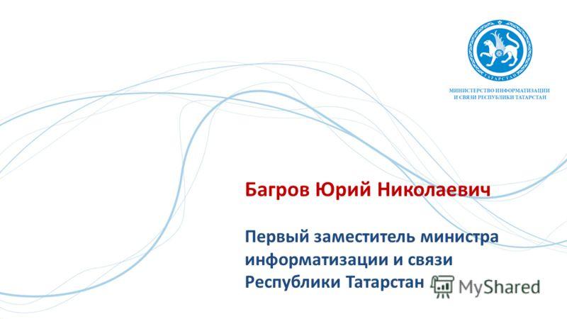 Багров Юрий Николаевич Первый заместитель министра информатизации и связи Республики Татарстан