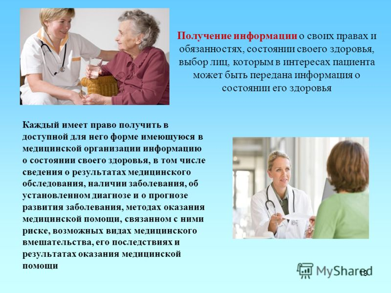 пациент имеет право знакомиться с медицинской документацией