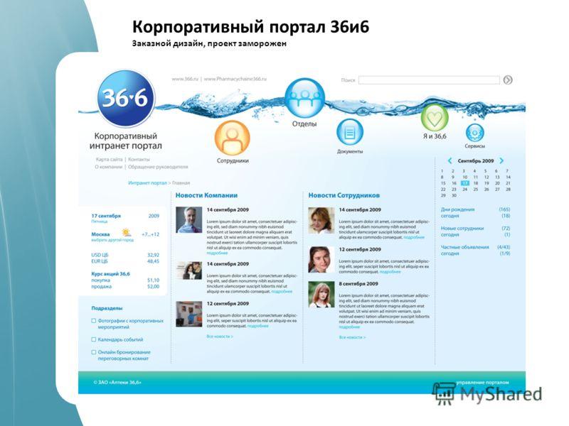 spellabs it.company работаем c 2004 года Корпоративный портал 36и6 Заказной дизайн, проект заморожен