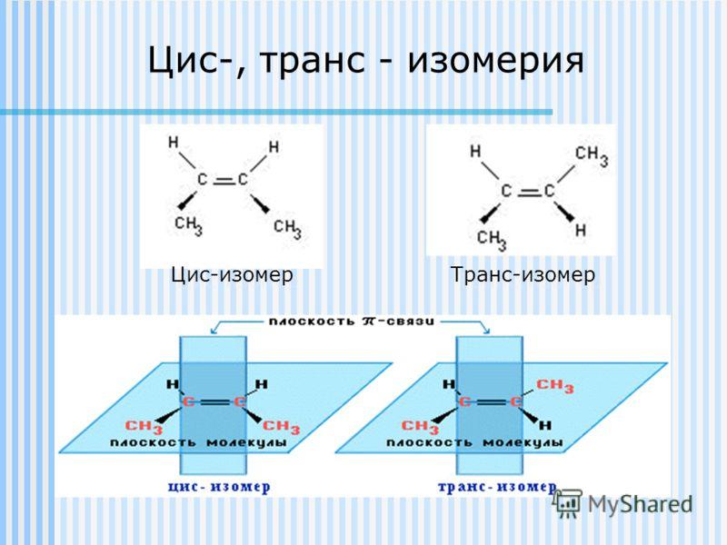 Цис-, транс - изомерия Цис-изомер Транс-изомер
