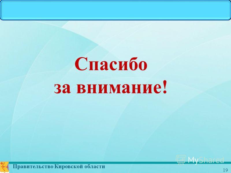 Правительство Кировской области 19 Спасибо за внимание!