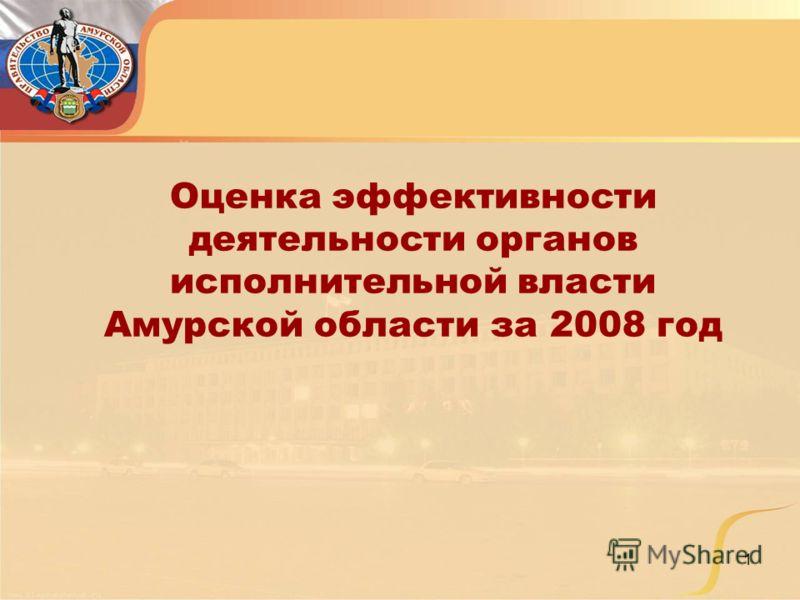 1 Оценка эффективности деятельности органов исполнительной власти Амурской области за 2008 год