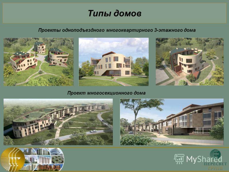 Типы домов Проекты одноподъездного многоквартирного 3-этажного дома Проект многосекционного дома