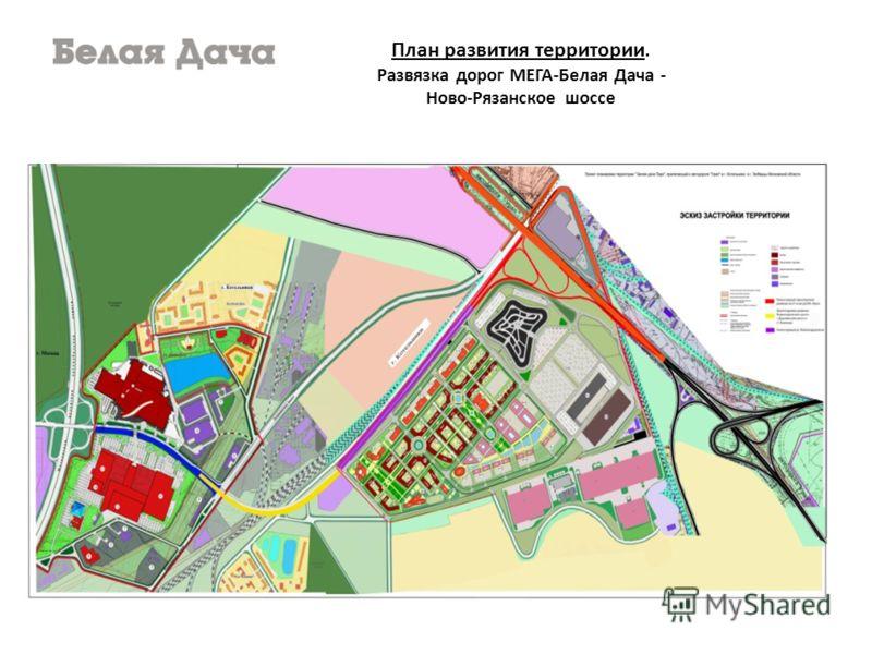 План развития территории. Развязка дорог МЕГА-Белая Дача - Ново-Рязанское шоссе