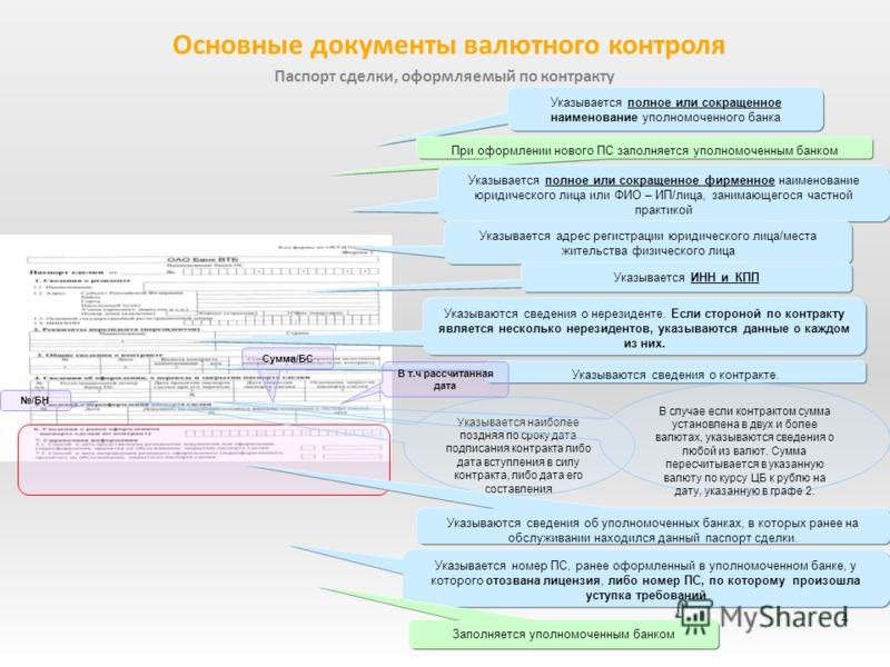 Образец Заполнения Паспорта Сделки По Контракту - фото 11