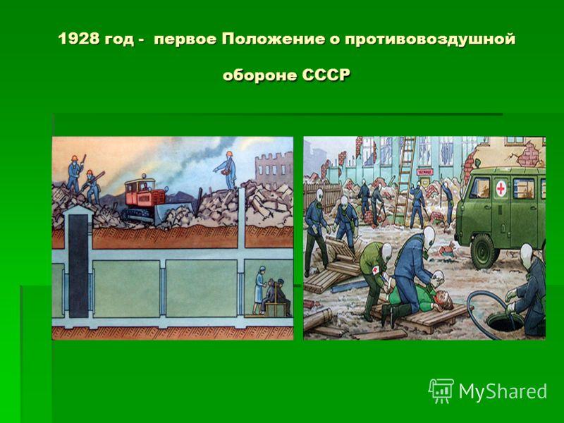 1928 год - первое Положение о противовоздушной обороне СССР