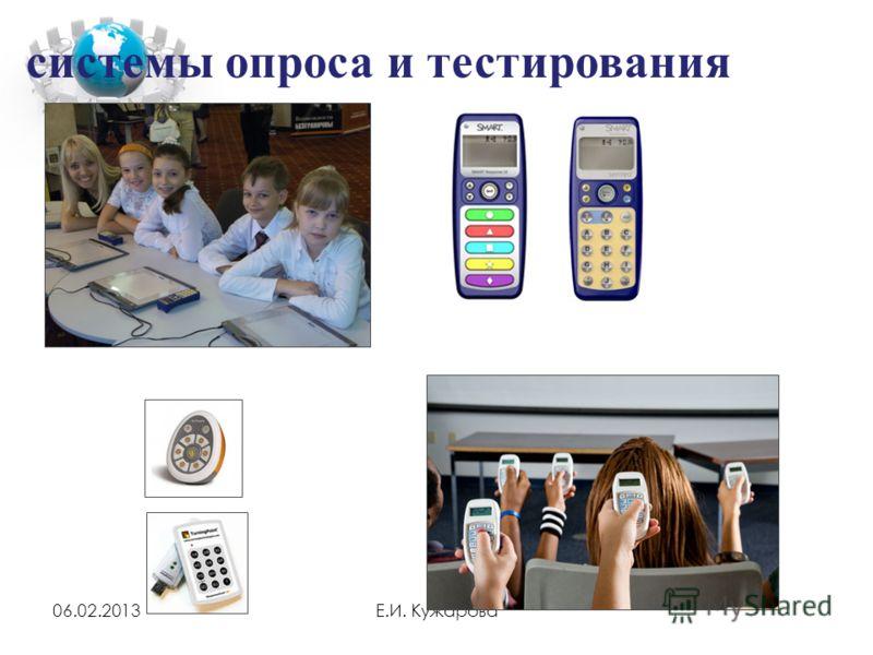 06.02.2013Е.И. Кужарова системы опроса и тестирования