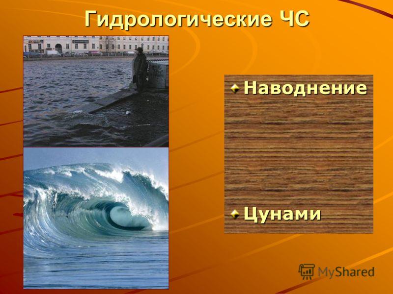 Гидрологические ЧС НаводнениеЦунами