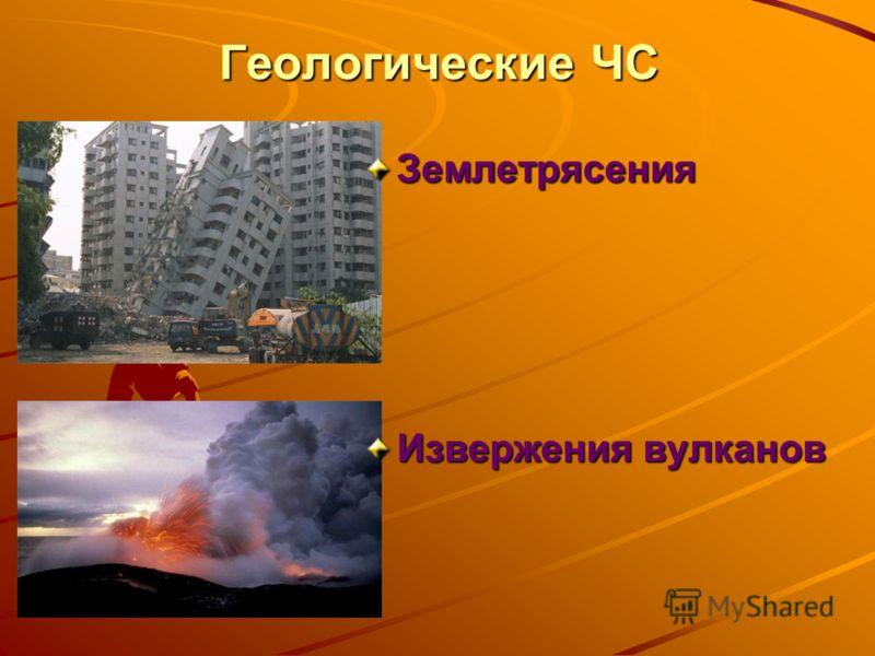 Геологические ЧС Землетрясения Извержения вулканов