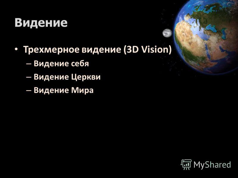 Видение Трехмерное видение (3D Vision) – Видение себя – Видение Церкви – Видение Мира
