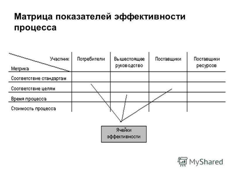 Матрица показателей эффективности процесса