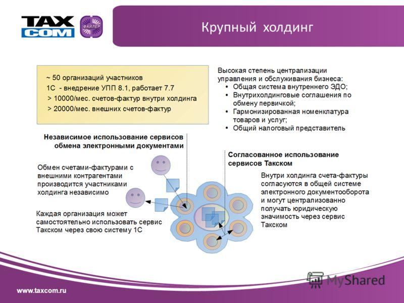 www.taxcom.ru Крупный холдинг