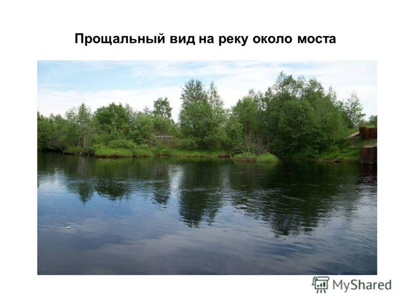 Прощальный вид на реку около моста
