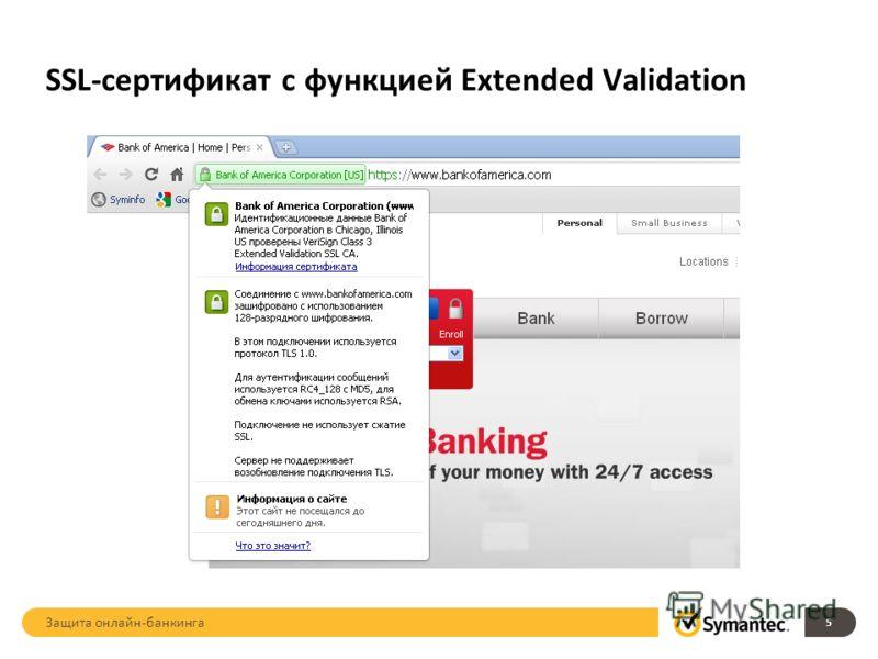 SSL-сертификат с функцией Extended Validation 5 Защита онлайн-банкинга