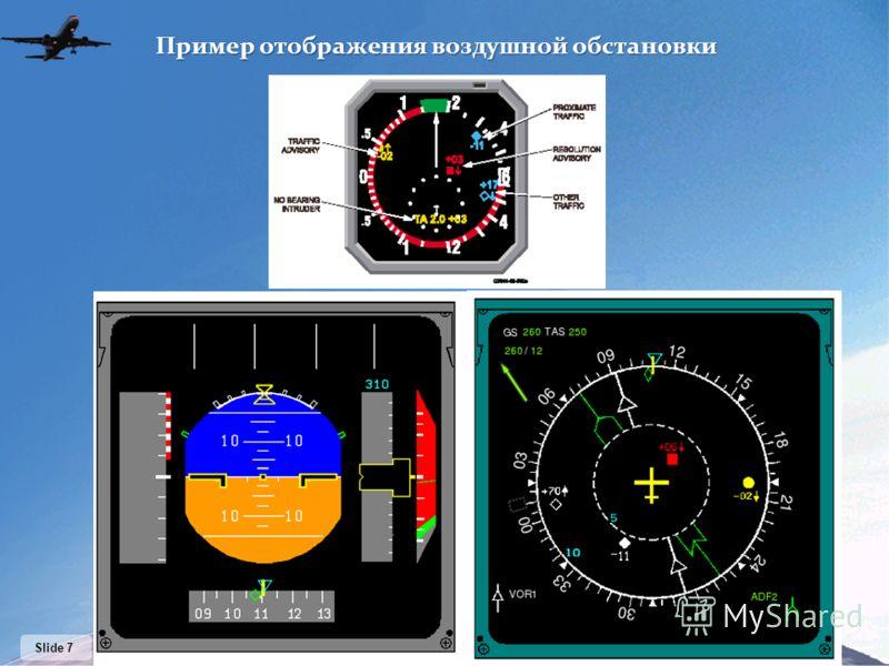 Slide 7 Пример отображения воздушной обстановки