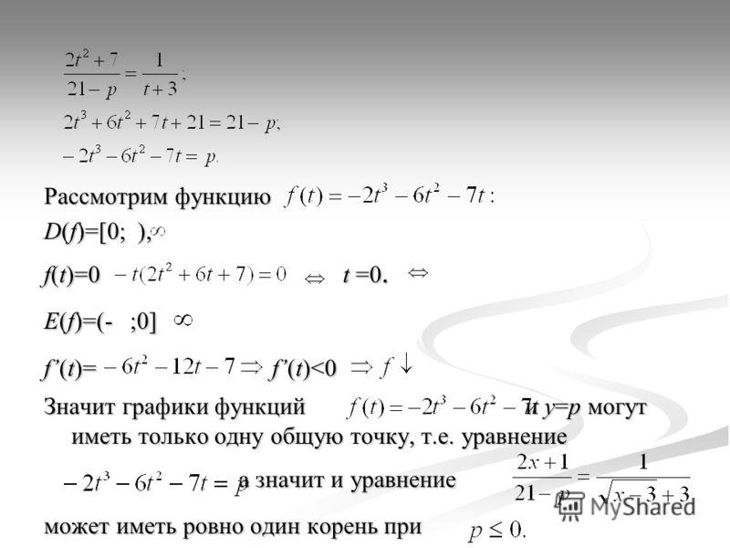 Рассмотрим функцию D(f)=[0; ), f(t)=0 t =0. E(f)=(- ;0] f(t)= f(t)