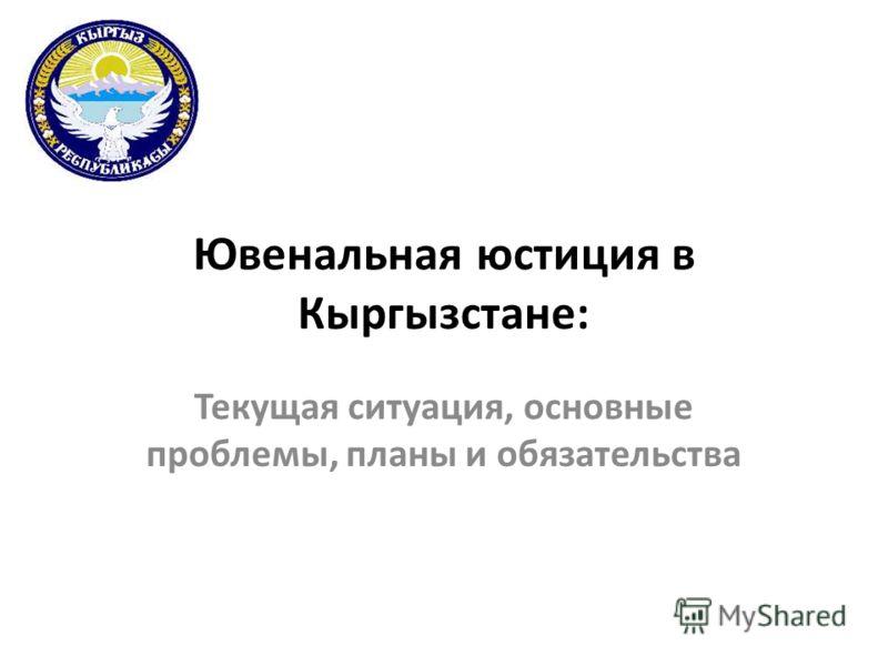 Ювенальная юстиция в Кыргызстане: Текущая ситуация, основные проблемы, планы и обязательства