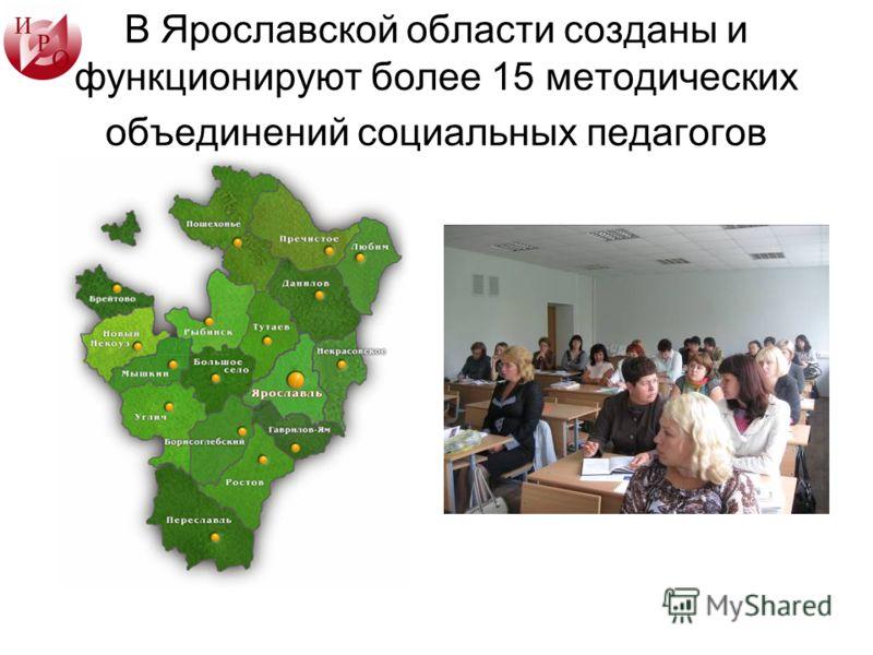 В Ярославской области созданы и функционируют более 15 методических объединений социальных педагогов
